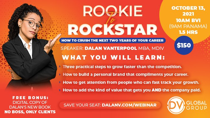 Rookie to Rockstar webinar flyer full